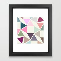 SPRING TRIANGLES Framed Art Print