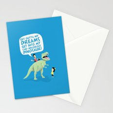 my car-nivorous dinosaur Stationery Cards