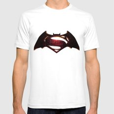 Batman/Superman Mens Fitted Tee White SMALL