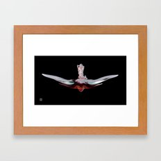 Isis - black Framed Art Print
