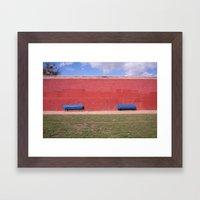 nice bench  Framed Art Print