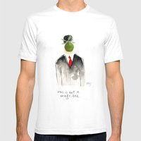 This Is Not A Magritte Mens Fitted Tee White SMALL