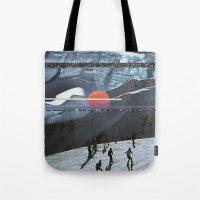 Night Skiing  Tote Bag