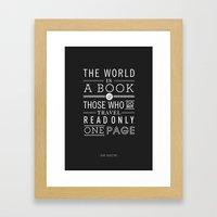 Type Poster - Saint Augu… Framed Art Print