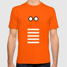 Where's Waldo Minimalism SMALL Mens Fitted Tee Orange