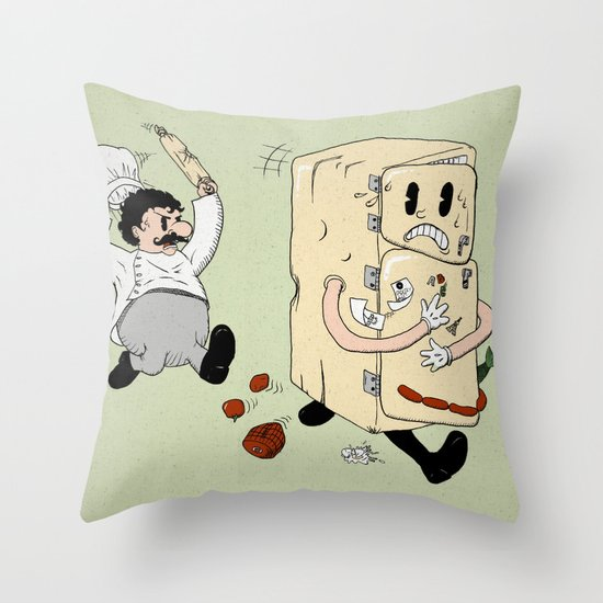 Your Fridge is Running Throw Pillow