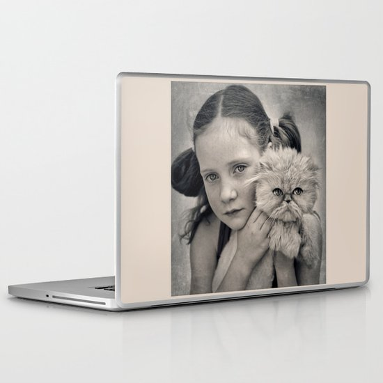 A Girl and her Cat Laptop & iPad Skin
