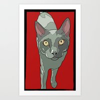 The Curious Cat Art Print