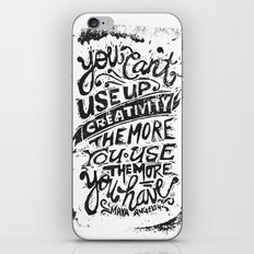 Maya Angelou Quote iPhone & iPod Skin