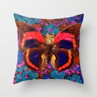 Caterflies Throw Pillow