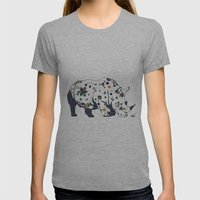 Rhino Womens Fitted Tee Athletic Grey SMALL