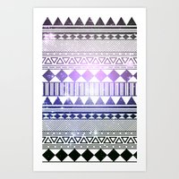 Galaxy Navajo Tribal Pat… Art Print