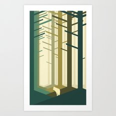 Lonely Wolf Art Print