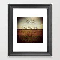 Home Is Wherever I'm Wit… Framed Art Print