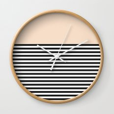 STRIPE COLORBLOCK {CREAM} Wall Clock