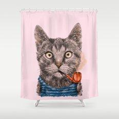Sailor Cat IX Shower Curtain