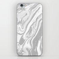 Marble - Grey Wash iPhone & iPod Skin