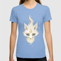 White Fox Womens Fitted Tee Tri-Blue SMALL