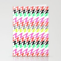 Zig Zag Stripes Stationery Cards