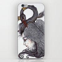 Swan Song art print iPhone & iPod Skin