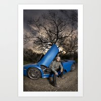 Bam Margera - Eerie tree, Blue ride Art Print