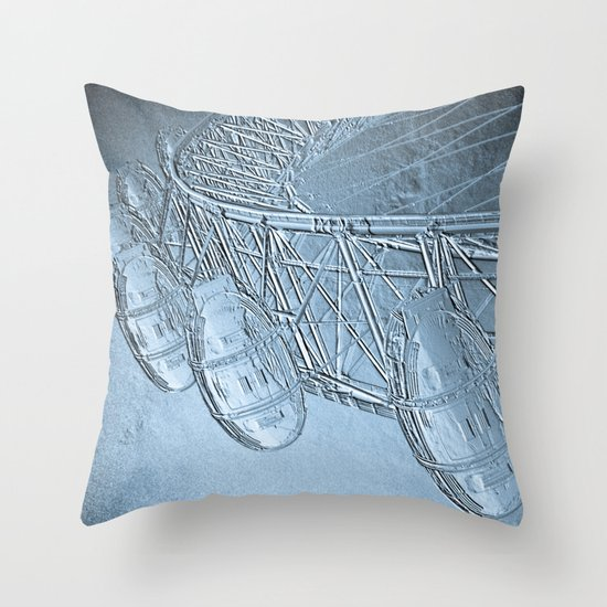 Embossed London Eye Throw Pillow