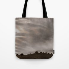 the sky is acting funny Tote Bag