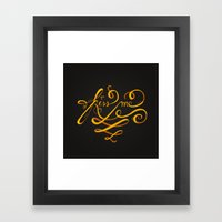 Kiss Me Typo Framed Art Print