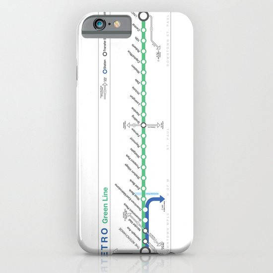 Twin Cities METRO Green Line Map iPhone & iPod Case