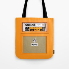 Retro Orange guitar electric amp amplifier iPhone 4 4s 5 5s 5c, ipad, tshirt, mugs and pillow case Tote Bag