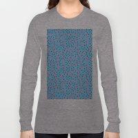 Pink Banana Peel on Baby Blue /// www.pencilmeinstationery.com Long Sleeve T-shirt