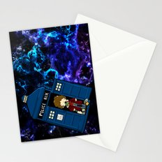 Tardis in space Doctor Who 4 Stationery Cards