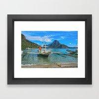 Palawan Beach Philippine… Framed Art Print