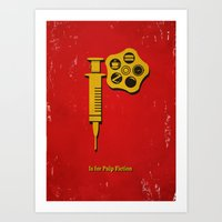 P Is For Pulp Fiction Art Print