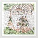 Under The Paris Sun - Paris Map Art Print