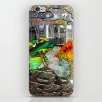 Doodlage 05 - Frog And F… iPhone & iPod Skin