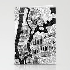 Hip-Hop Map of New York Stationery Cards
