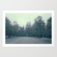 rainy road Art Print