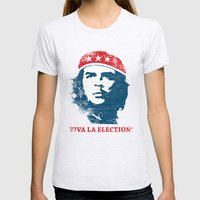 Viva la election! Womens Fitted Tee Ash Grey SMALL