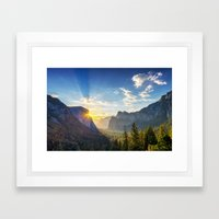 Yosemite Sunburst Framed Art Print
