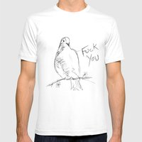 Birdsong Mens Fitted Tee White SMALL