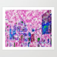 Art Print featuring Shrewsbury Up In The Clo… by Sammycrafts