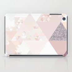 Triangles in glittering Rose quartz iPad Case