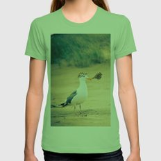rebel gull. Womens Fitted Tee Grass SMALL