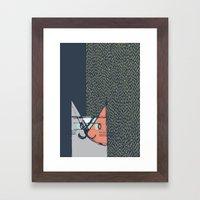 Cubist Cat Study #1 By F… Framed Art Print