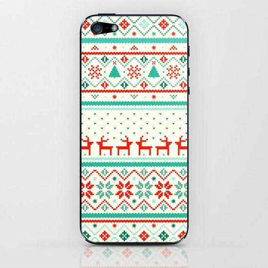 Festive Fair Isle iPhone & iPod Skin