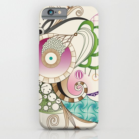 Autumn tangle, sienna - purple color set iPhone & iPod Case