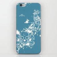 Turq Skull N Finch iPhone & iPod Skin