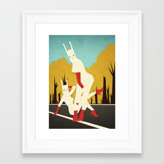 roadside bunnies Framed Art Print