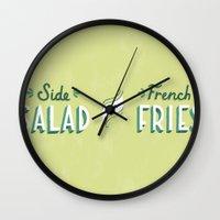 Side Salad Or French Fri… Wall Clock